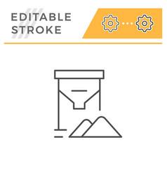 grain tank line icon vector image