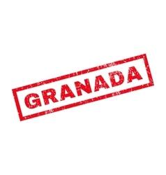 Granada Rubber Stamp vector image vector image