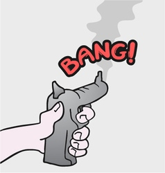 gun draw vector image