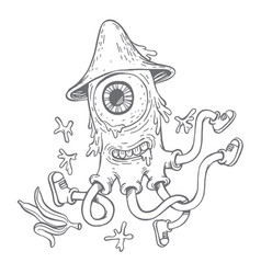 Hand drawn doodle style vector