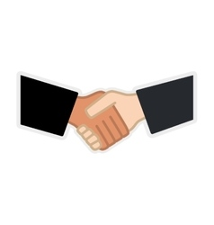 Hand shake icon Human hand design graphic vector