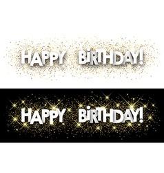 Happy birthday paper banner vector