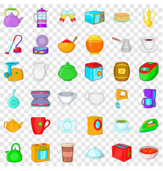 household icons set cartoon style vector image