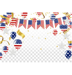 independence day of the usa sale banner template vector image