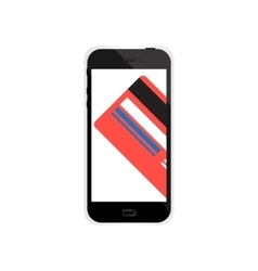 Internet shopping in smartphone with credit card vector image
