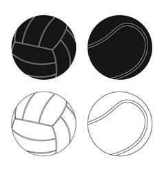 Isolated object of sport and ball symbol set of vector