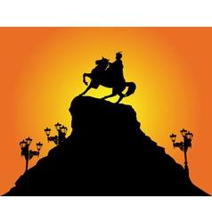 kiev bohdan khmelnytsy silhouette vector image
