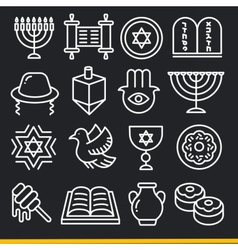Lines icons pack collection jew vector