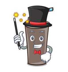 Magician ice chocolate mascot cartoon vector