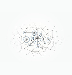 Network concept connections with lines circles vector
