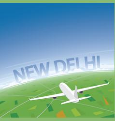 New delhi flight destination vector