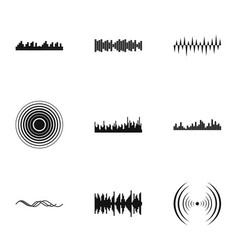 Noise icons set simple style vector