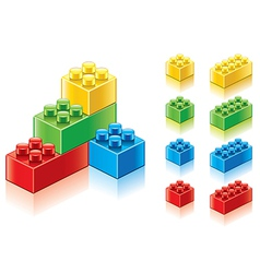 object plastic blocks vector image