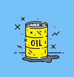 oil barrel spill icon vector image