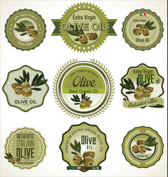 Olive badges vector