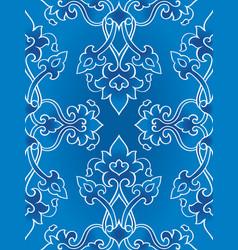oriental blue ornament vector image