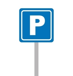 parking zone sign isolated icon vector image