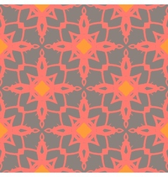 Pattern with bold ornamental stylized flowers vector image