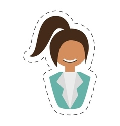 People fashionista woman with head taid vector