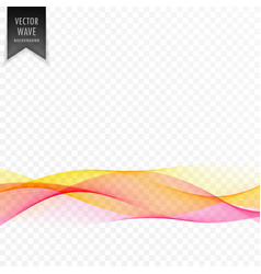 pink and yellow abstract elegant wave background vector image