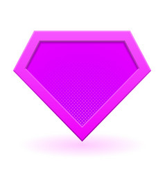 pink superhero logo vector image