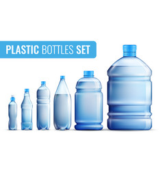 plastic bottles icon set vector image