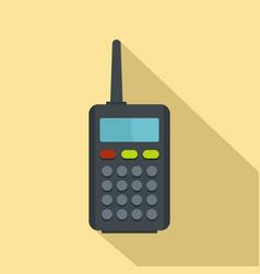 radio station icon flat style vector image