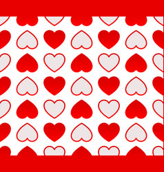 repeatable heart pattern heart background graphics vector image
