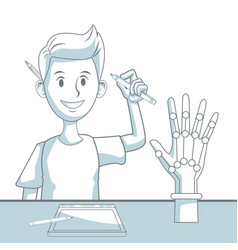 robotic hand concept vector image