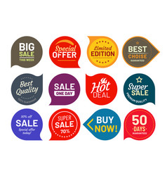 sale quality badges round hundred percent assured vector image