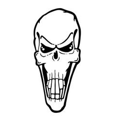 scary evil skull vector image