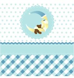 Seamless baby boy pattern vector