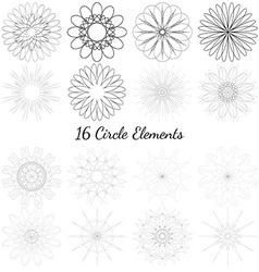 Set of circle elements vector image