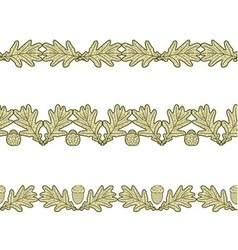set of the seamless decorative borders vector image