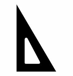 set square dark silhouette vector image