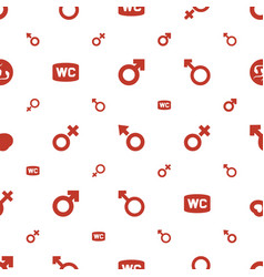 Sex icons pattern seamless white background vector