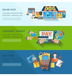 Shopping E-commerce Banners vector image