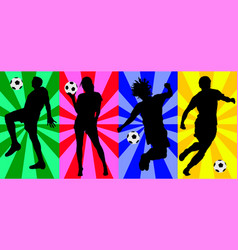 soccer crazy vector image