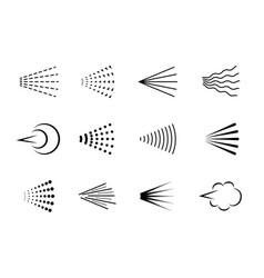 spray hairspray aerosol haze scatter gas vector image