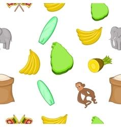 Sri Lanka pattern cartoon style vector image