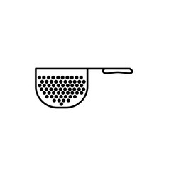 strainer icon vector image