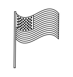 United statae of america flag vector