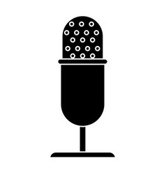 Vintage microphone studio style pictogram vector