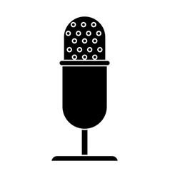 vintage microphone studio style pictogram vector image