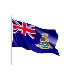 Waving national flag cayman islands vector