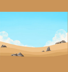 Wheat field landscape with cloud sky vector
