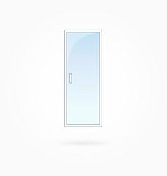White door frame eps 10 vector