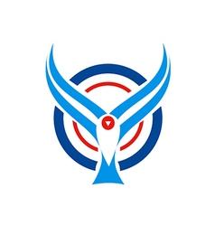 bird fly aviation logo vector image