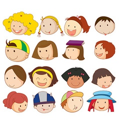 Different faces vector image vector image
