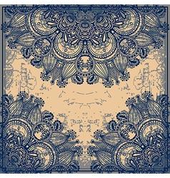 flower design on grunge background vector image